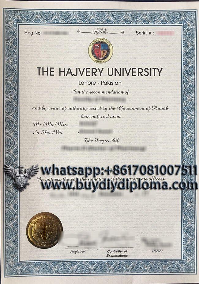 Hajvery University Diploma