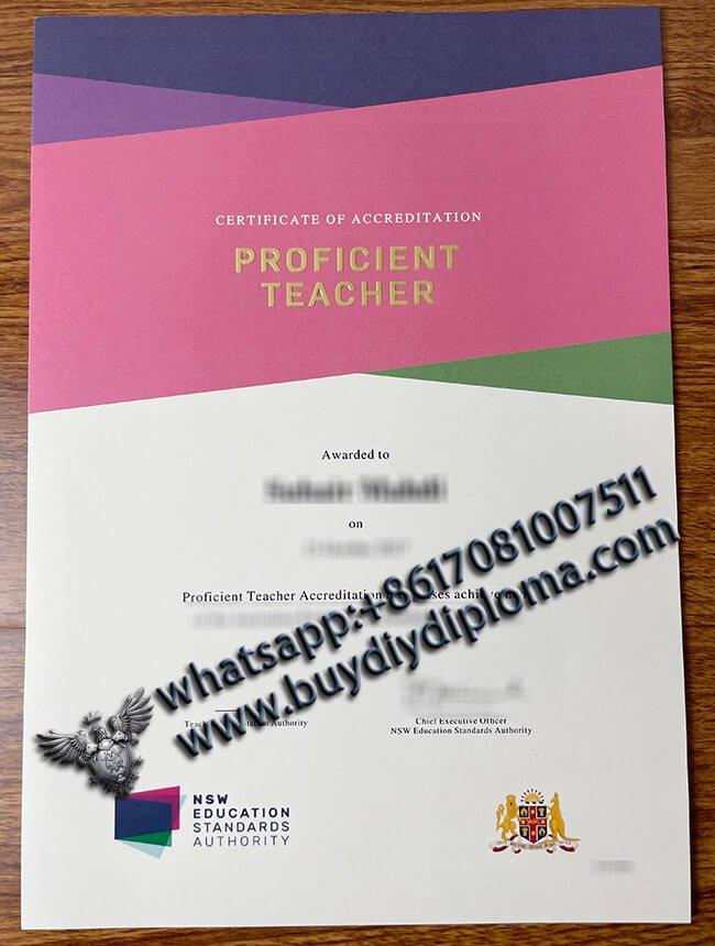 Proficient Teacher Certificate, NSW Education Standards Certificate