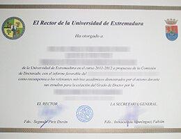 University of Extremadura-diploma