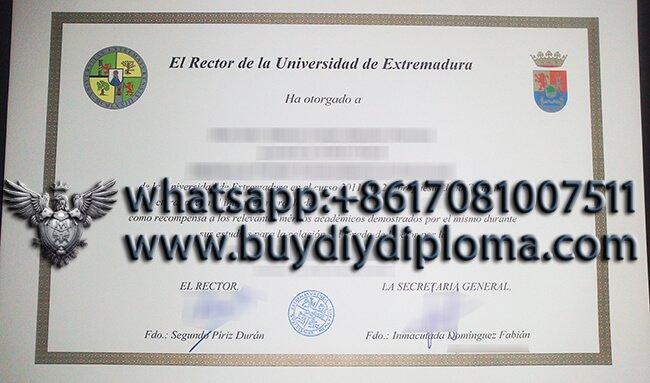 Ph.D. Extraordinary University of Extremadura degree sample, Buy Spain Degree