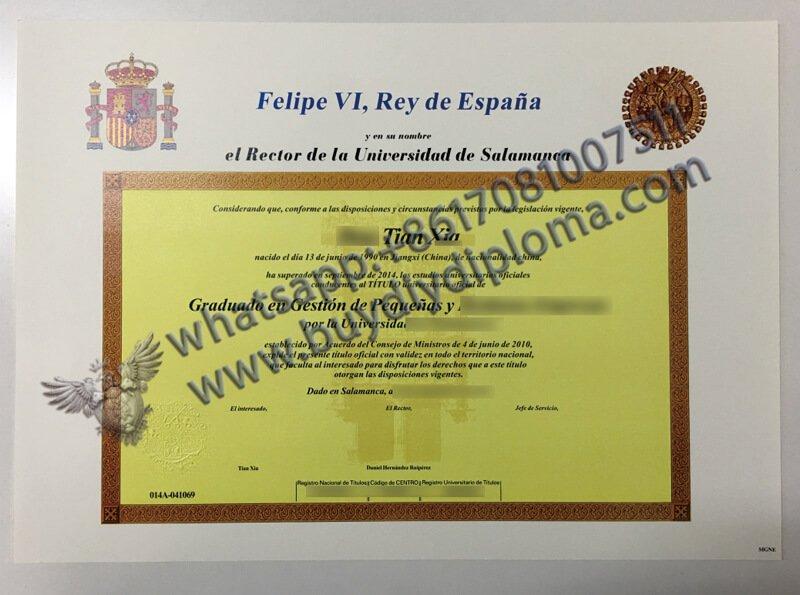 spain certificate