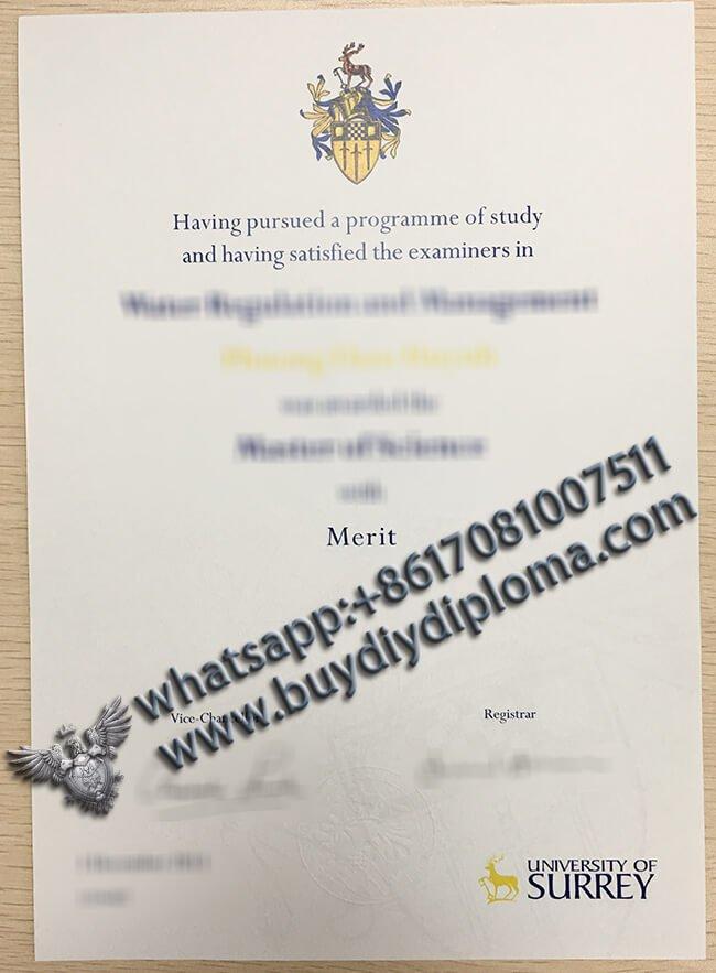 Fake University of Surrey Diploma, How to buy fake diploma from UK