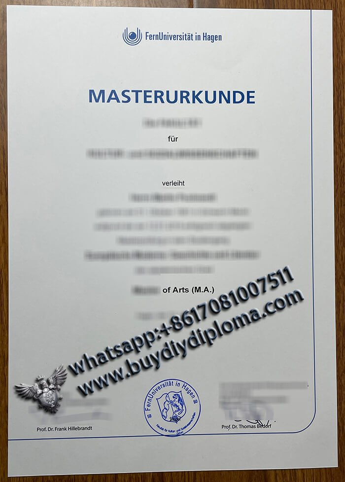 buy FernUniversität in Hagen MASTERURKUNDE/#FAKE DIPLOMA