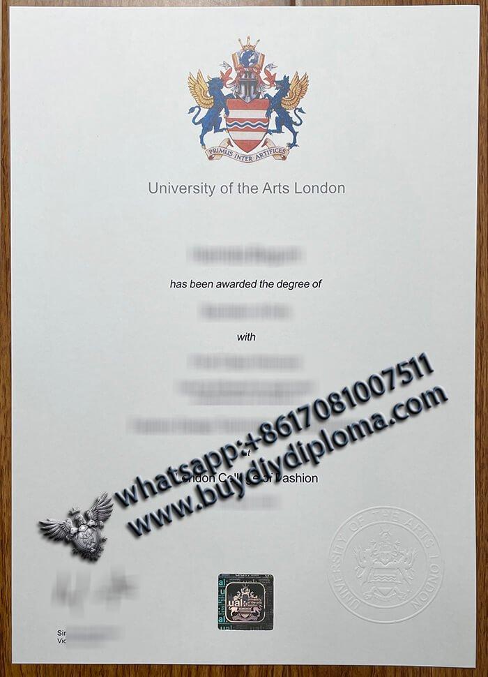fake University of Art London diploma, UAL diploma