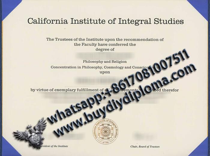 California Institute of Integral Studies degree