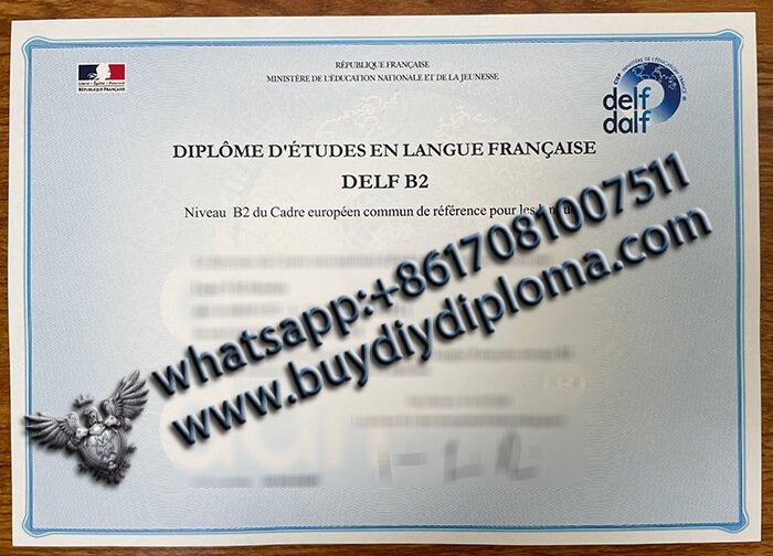 Buy Fake DELF B2 certificate/diploma with real watermark?