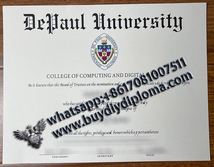 buy fake DePaul University Diploma, DePaul University Degree