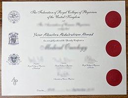 FRCP certificate, MRCP certificate