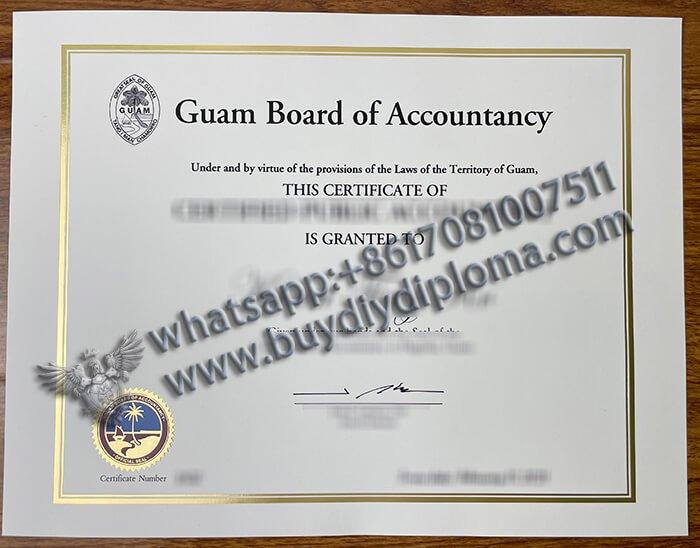 Buy Fake Diploma Buy fake Guam Board of Accountancy CPA Certificate