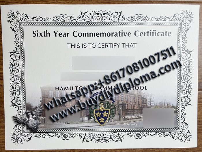 Sixth Year Commemorative Certificate