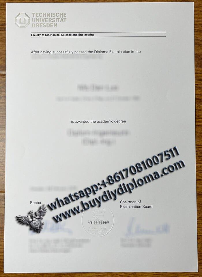 Fälschung Technische Universität Dresden Diplom, Fälschung Germany Urkunde