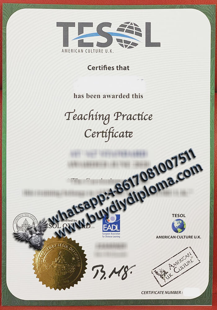 TESOL Certificate at once?