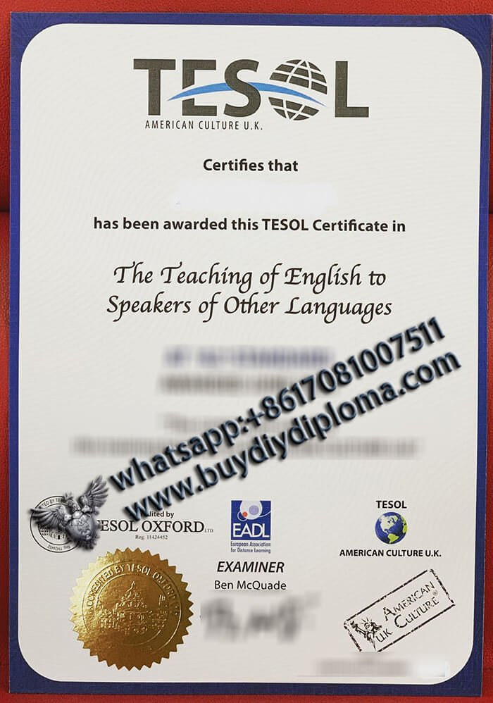 buy TESOL certificate