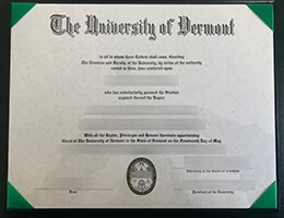 University of Vermont-UVM diploma1