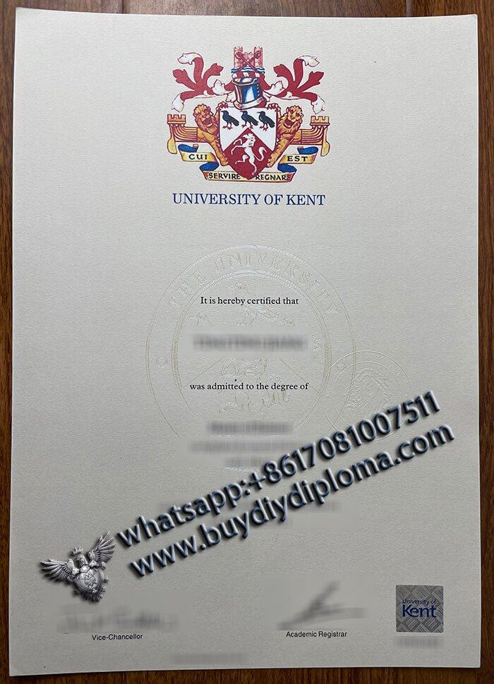 Buy University of Kent Diploma in UK