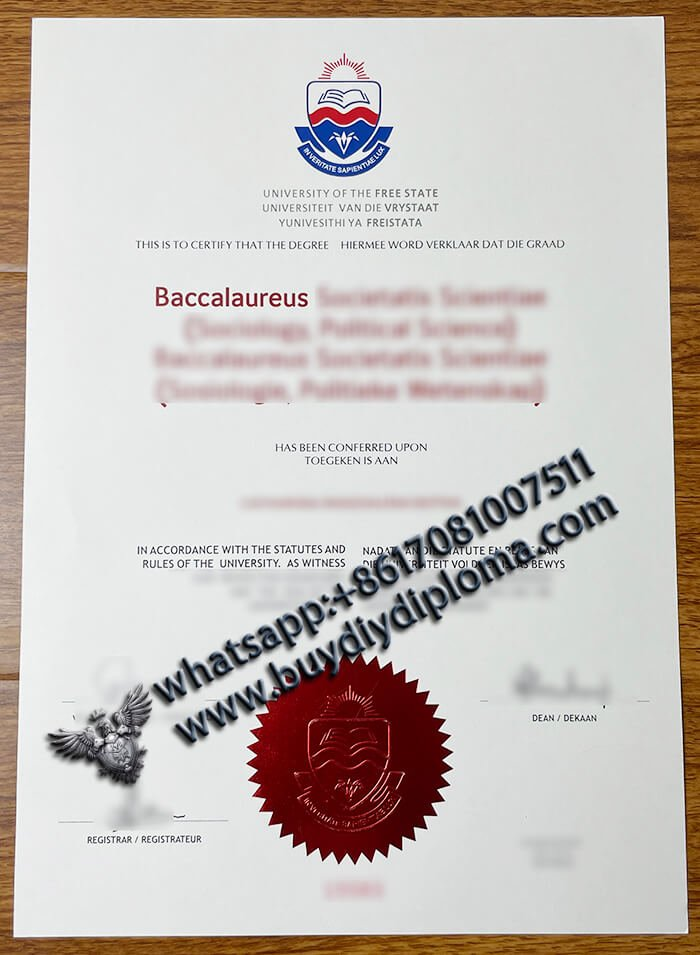 fake University of the Free State Diploma online