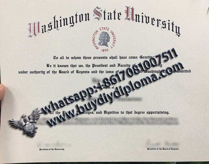 washington state university diploma