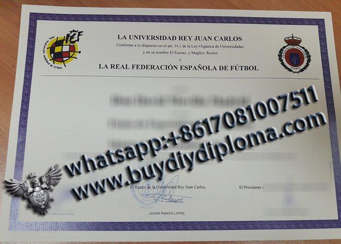 LA UNIVERSIDAD REY JUAN CARLOS diploma