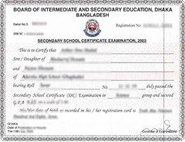 fake HSC certificate