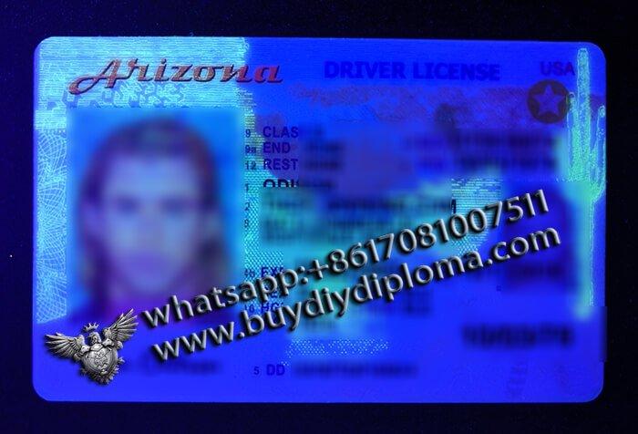 Arizona Fake Scannable DRIVER LICENSE USA