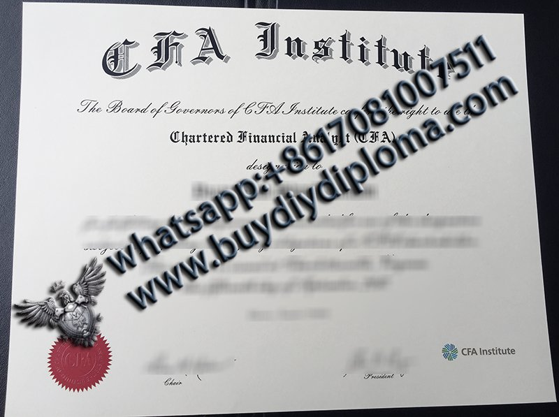 Where can I buy a high quality fake CFA certificate online?