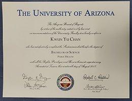 Fake-diploma-of-university-of-arizona