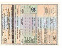 fake High Second Certificate Transcript