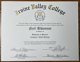Iruine Valley College diploma