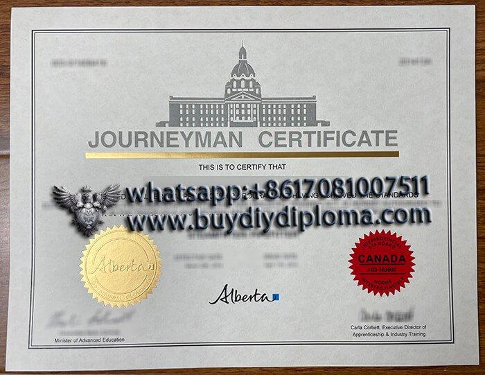 Where to buy fake Journeyman Certificate, Alberta CANADA?