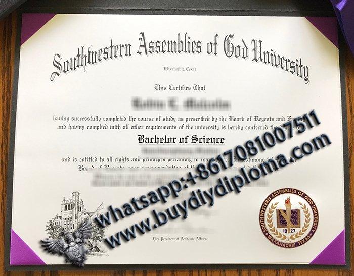 Southwestern Assemblies of God University (SAGU) Diploma fake diploma fake harvard degree fake tefl certificate harvard deploma