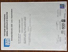 WJEC certificates
