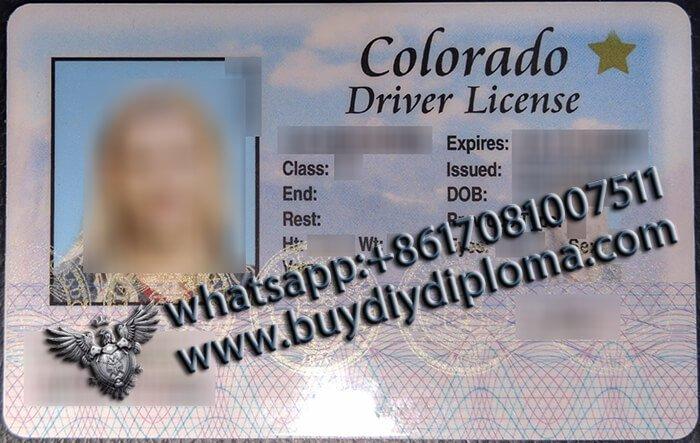 Colorado (CO) Fake Scannable DRIVER LICENSE USA