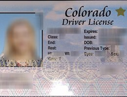 USA Colorado (CO) Scannable Drivers License