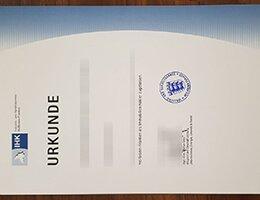 IHK Urkunde degree
