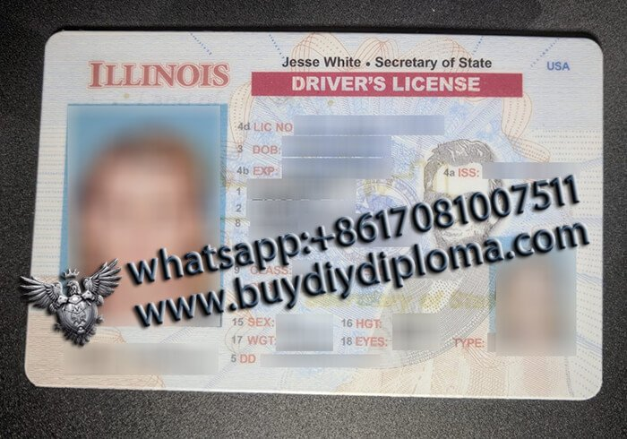 USA Illinois NEW (IL) Scannable Drivers License