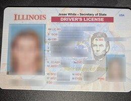 USA Illinois NEW (IL) Scannable Drivers License