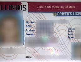 USA Illinois Old (IL) Scannable Drivers License