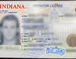 USA Indiana (IN) Scannable Drivers License