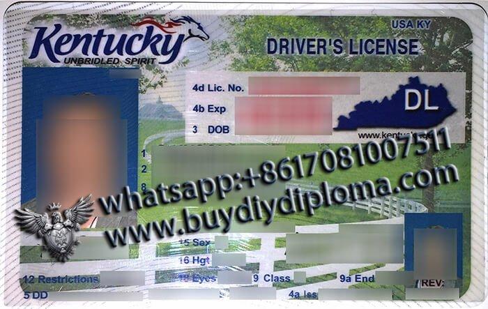 USA Kentucky (KY) Scannable Drivers License