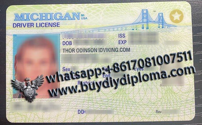 USA Michigan (MI) Scannable Drivers License