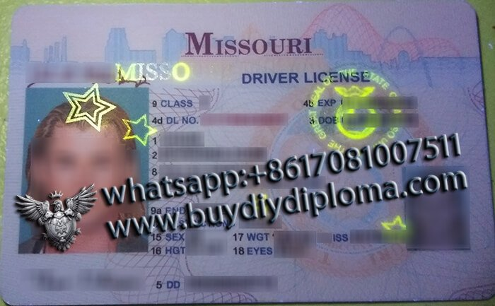 USA Missouri (MO) Scannable Drivers License
