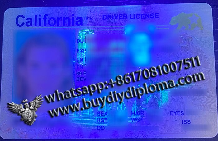 California Fake Scannable DRIVER LICENSE USA