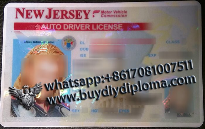 USA New Jersey (NJ) Scannable Drivers License