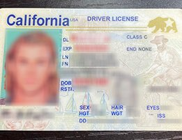 California Fake Scannable DRIVER LICENSE USA