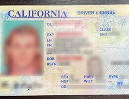 Old California Fake Scannable DRIVER LICENSE USA