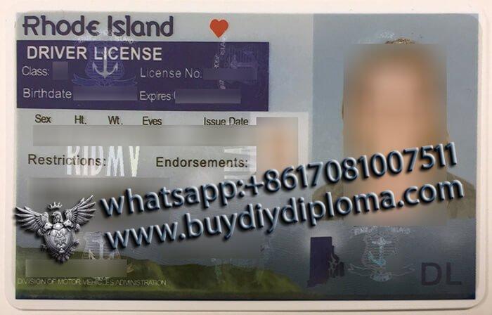 USA Rhode Island OLD (RI) Scannable Drivers License