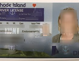 USA Rhode Island OLD (RI) Scannable Drivers License