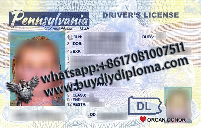 USA Pennsylvania NEW (PA) Scannable Drivers License