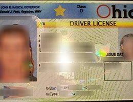 USA Ohio (OH) Scannable Drivers License