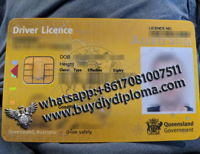 Australian Queensland Scannable Drivers-License